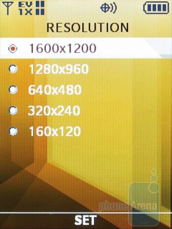 Camera interface - Samsung Renown Review