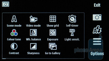 Camera interface - Nokia 5800 XpressMusic Review