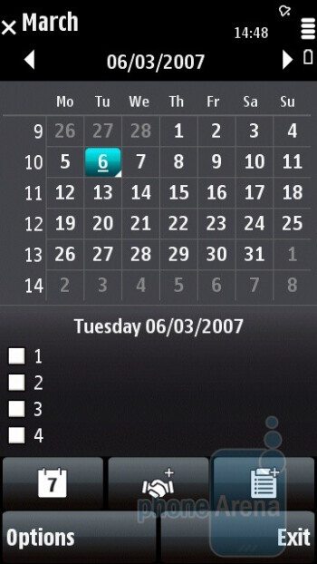 Calendar - Nokia 5800 XpressMusic Review