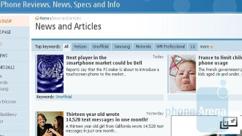 Symbian Internet browser - Nokia 5800 XpressMusic Review