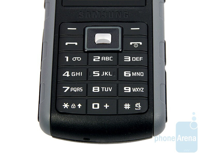 Rubber-coated keys - Samsung B2700 Review