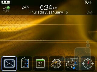Home screen - RIM BlackBerry Curve 8350i Review