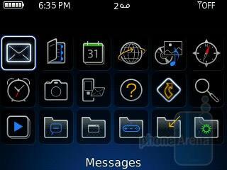 Main menu - RIM BlackBerry Curve 8350i Review