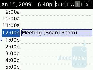 Calendar - RIM BlackBerry Curve 8350i Review