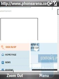 Internet Explorer - HTC S740 Review