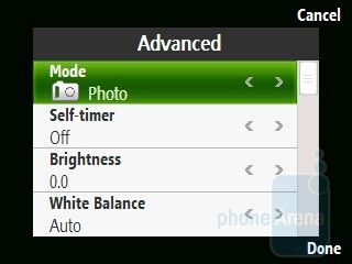 Camera interface - HTC S740 Review