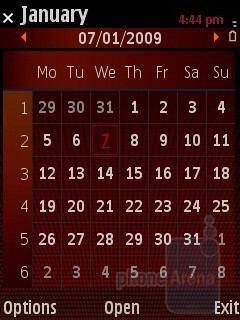 Calendar - Samsung I7110 Preview