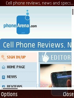 Internet browser - Samsung I7110 Preview