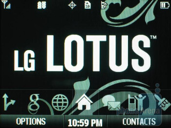 Home screen - LG Lotus Review
