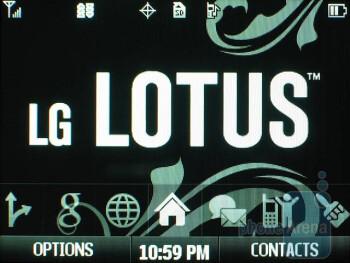 Home screen - LG Lotus Review