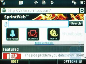 Internet browser - LG Lotus Review