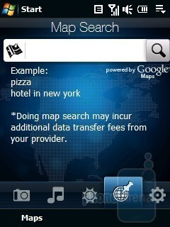 Map Search - HTC Touch Cruise Review