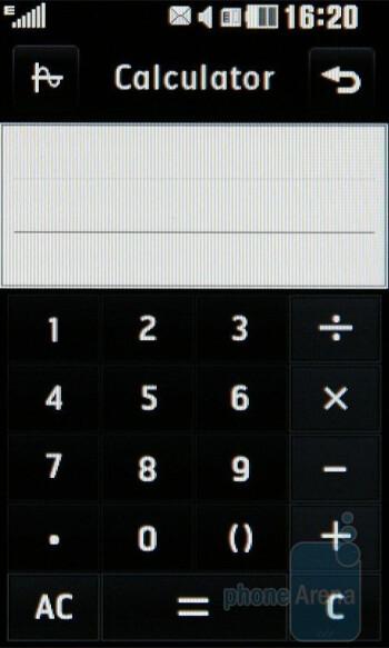 Calculator - LG PRADA II Review