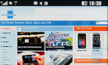 Internet browser - LG PRADA II Review