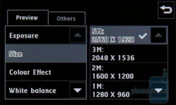 Camera interface - LG PRADA II Review