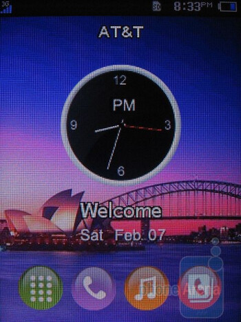Home screen - AT&T Quickfire Review
