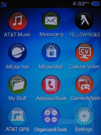Main menu - AT&T Quickfire Review