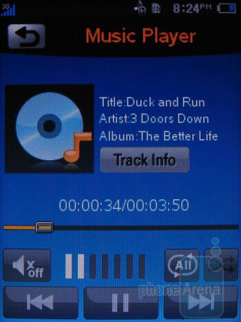 Music player - AT&T Quickfire Review