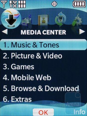 Main menu themes - LG VX8360 Review