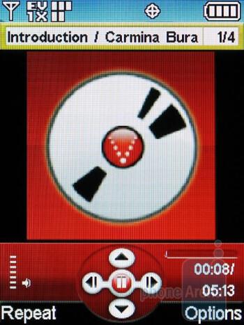 Music player - LG VX8360 Review