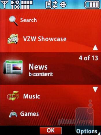 Dashboard - LG VX8360 Review