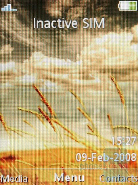 Home screen - Sony Ericsson C510 Preview