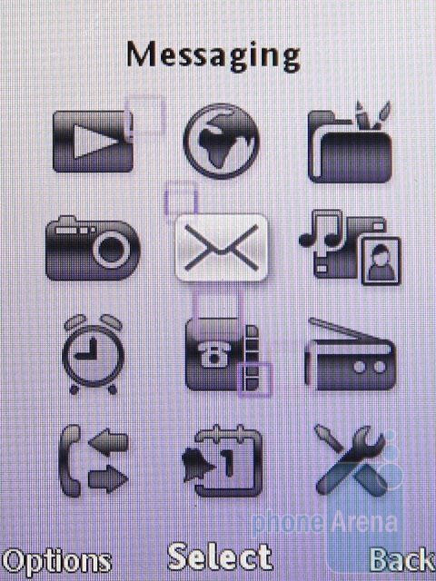 Main menu - Sony Ericsson C510 Preview