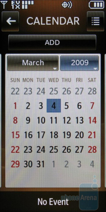 Calendar - LG Versa Review