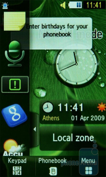 Widgets - Samsung UltraTOUCH Preview