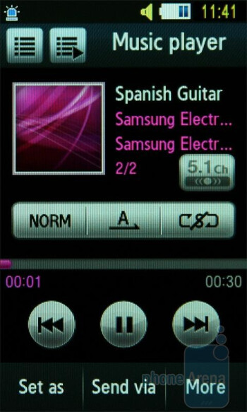 Music player - Samsung UltraTOUCH Preview