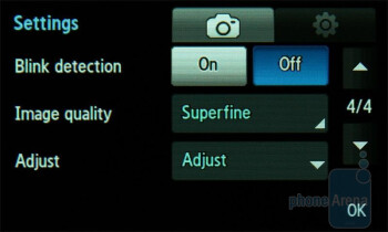 Camera interface - Samsung UltraTOUCH Preview