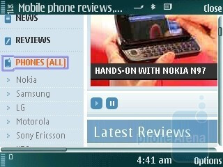 Browsing in landscape mode - Nokia N79 Review
