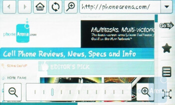 Web browser - Samsung Memoir Review