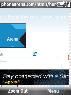 Internet browser - Pantech Matrix Pro Review
