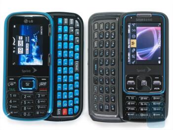 LG Rumor 2 next to Samsung Rant - LG Rumor2 Review