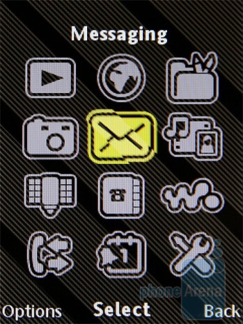 Main menu - Sony Ericsson W995 Preview