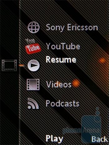 Media menu - Sony Ericsson W995 Preview