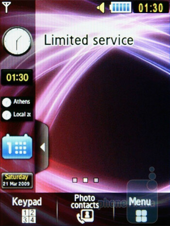 Home screen - Samsung S5600 Preview