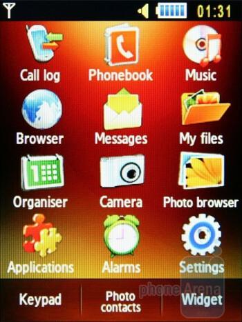Main menu - Samsung S5600 Preview