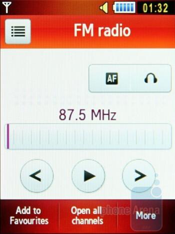 FM radio - Samsung S5600 Preview