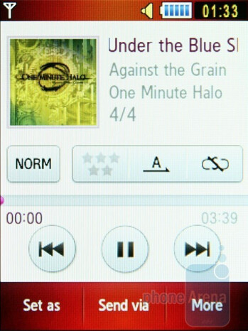 Music player - Samsung S5600 Preview