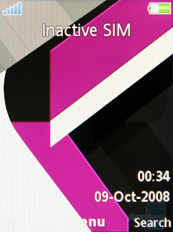 Home screen - Sony Ericsson C903 Preview