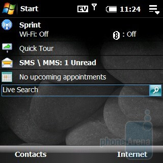 Home screen - Palm Treo Pro CDMA Review