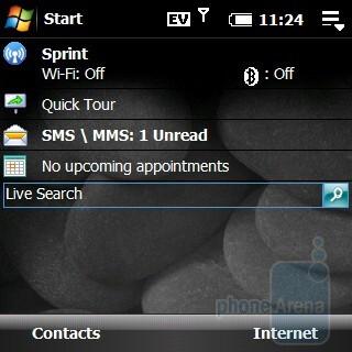Home screen - Palm Treo Pro CDMA Review