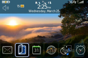 Home screen - BlackBerry Bold Review