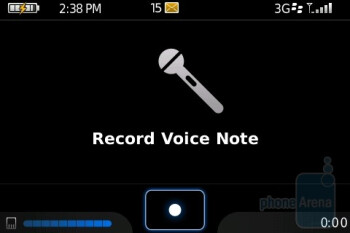 Voice Note Recorder - BlackBerry Bold Review