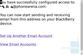 Email setup - BlackBerry Bold Review