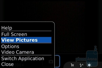 Camera interface - BlackBerry Bold Review