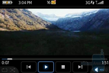 Video player - BlackBerry Bold Review