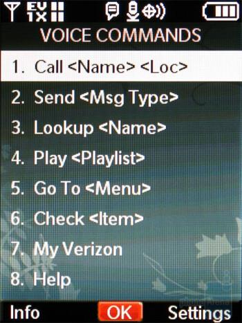 Voice commands - Nokia 7205 Intrigue Review